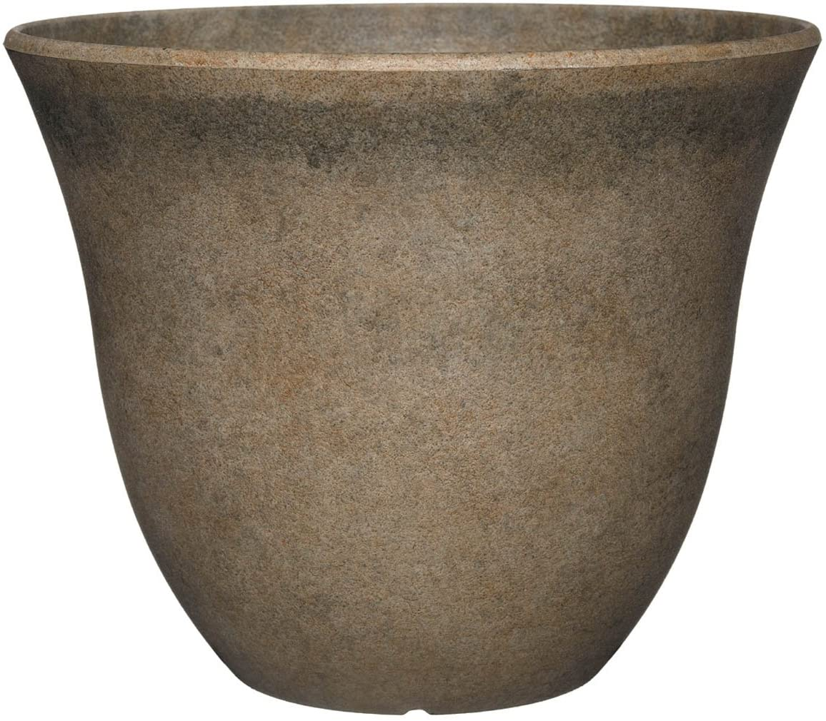 """Classic Home and Garden Honeysuckle Planter, Patio Pot, 13"""" Fossil Stone"""