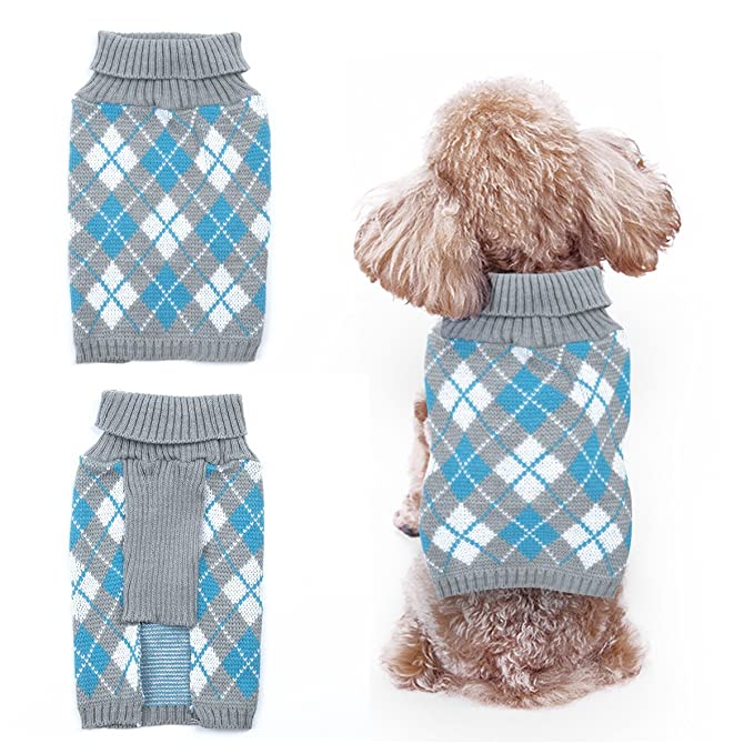 FEESHOW Jerséis para perros pequeños ropa mascotas pequeñas Cuello ...