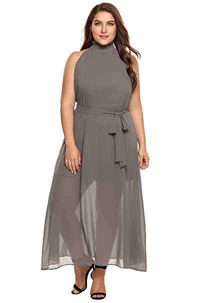 Zeagoo Womens Plus Size Bridesmaid Dress Sleeveless V Neck Cocktail