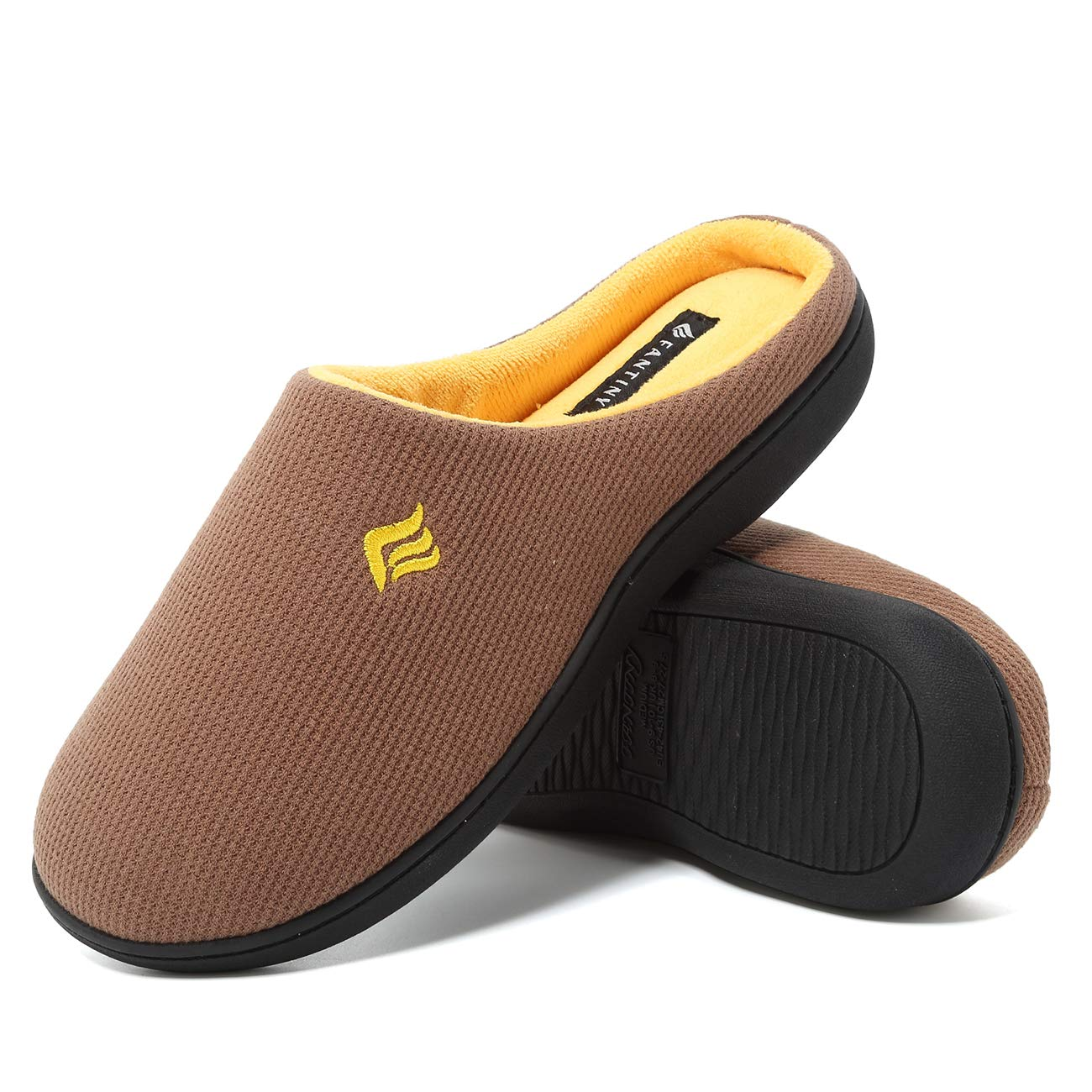 CIOR Fantiny Men's Memory Foam Slippers Slip-on Clog Scuff House Shoes Indoor & Outdoor