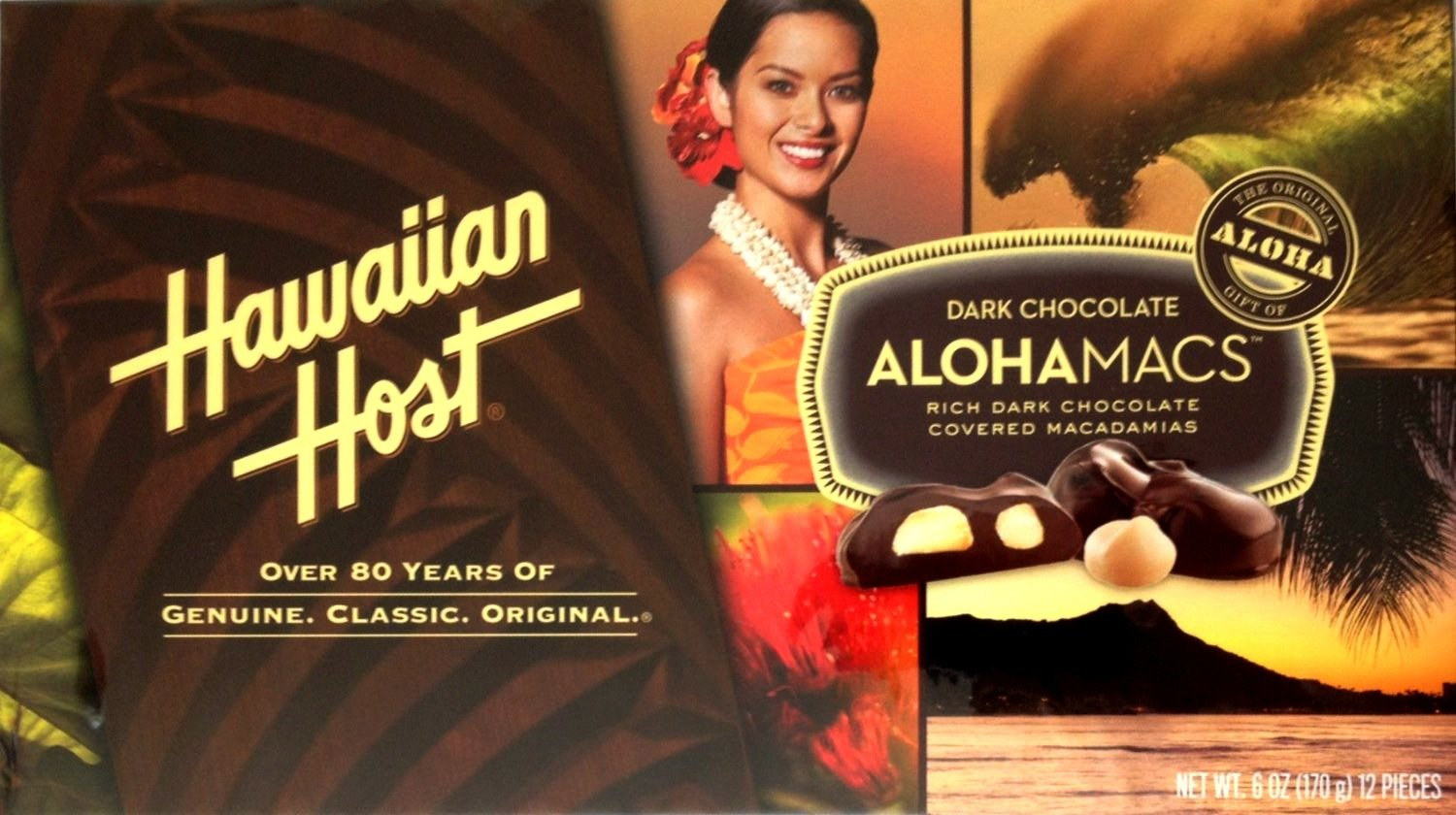 Hawaiian Host Alohamacs Dark Chocolate Covered Macadamia Nuts (6 oz Boxes) (6 Boxes) by Hawaiian Host (Image #2)