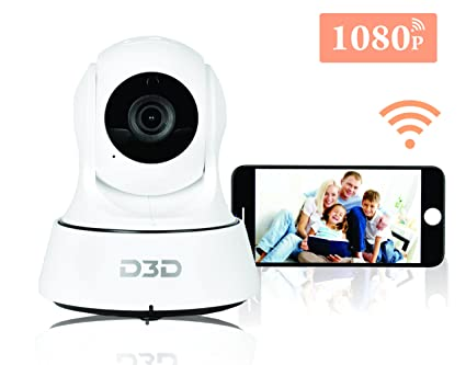 D3D Wireless Full HD 2 0 MegaPixel Ip WiFi CCTV Indoor Security Camera  (Support Upto 128 GB SD Card) (White) Model:D9910