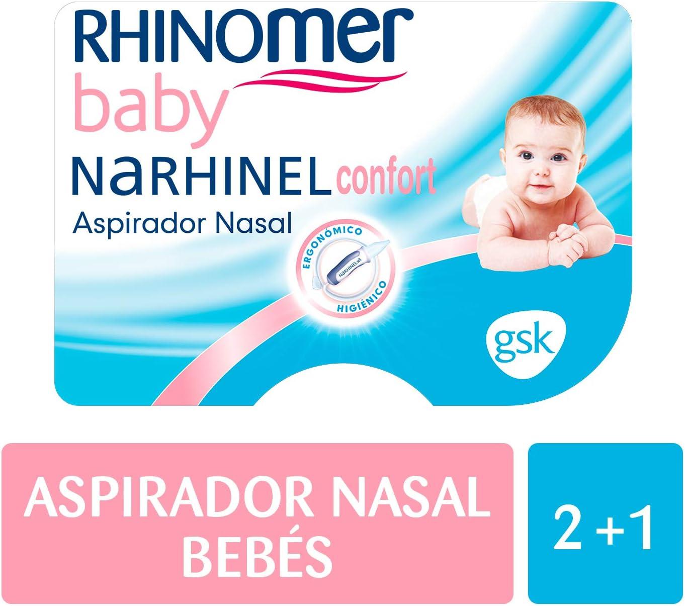 Rhinomer Baby - Narhinel Confort Aspirador Nasal+ 2 recambios blandos desechables: Amazon.es: Salud y cuidado personal