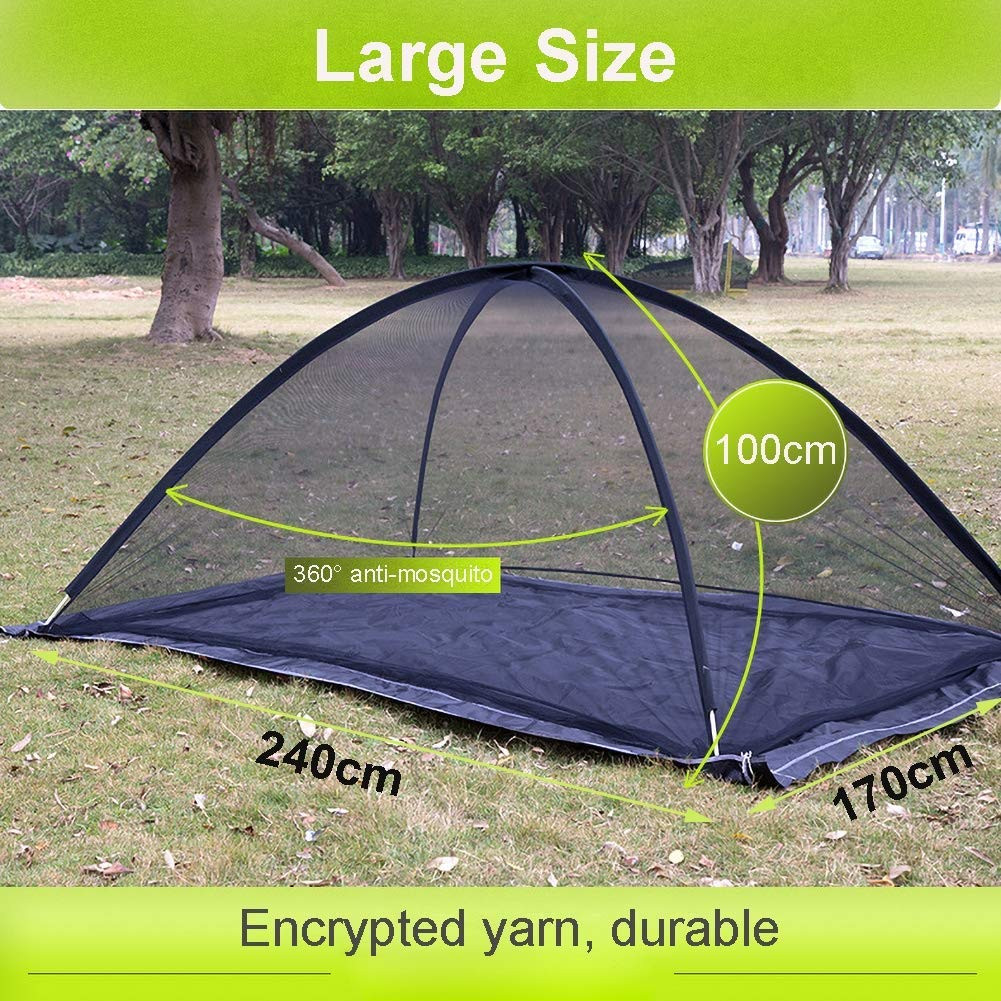 Large Double Bed Free-Standing Mosquito Net Tent for Outdoor, Beach, Hiking, Traveling, Backyard,Quick Easy Installation by dehong (Image #3)
