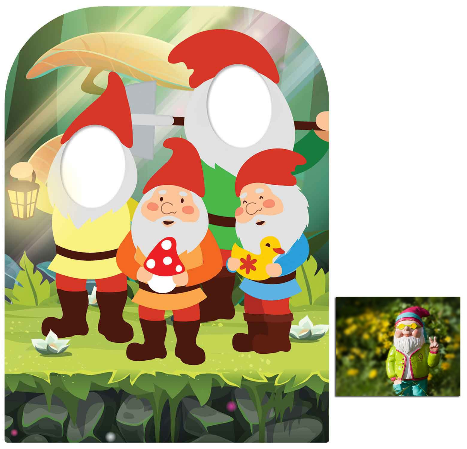 Fan Pack - The Spirit Of The Garden Gnomes Child Size Stand-in Cardboard Cutout - Includes 8x10 Star Photo