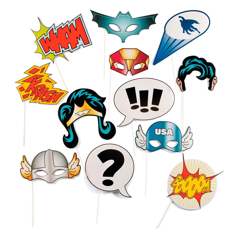 Fun Express 13659365 Super Hero Stick Costume Props SYNCHKG069719