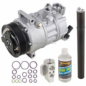 Nueva AC Compresor y embrague con completa a/c Kit de reparación para VW Jetta