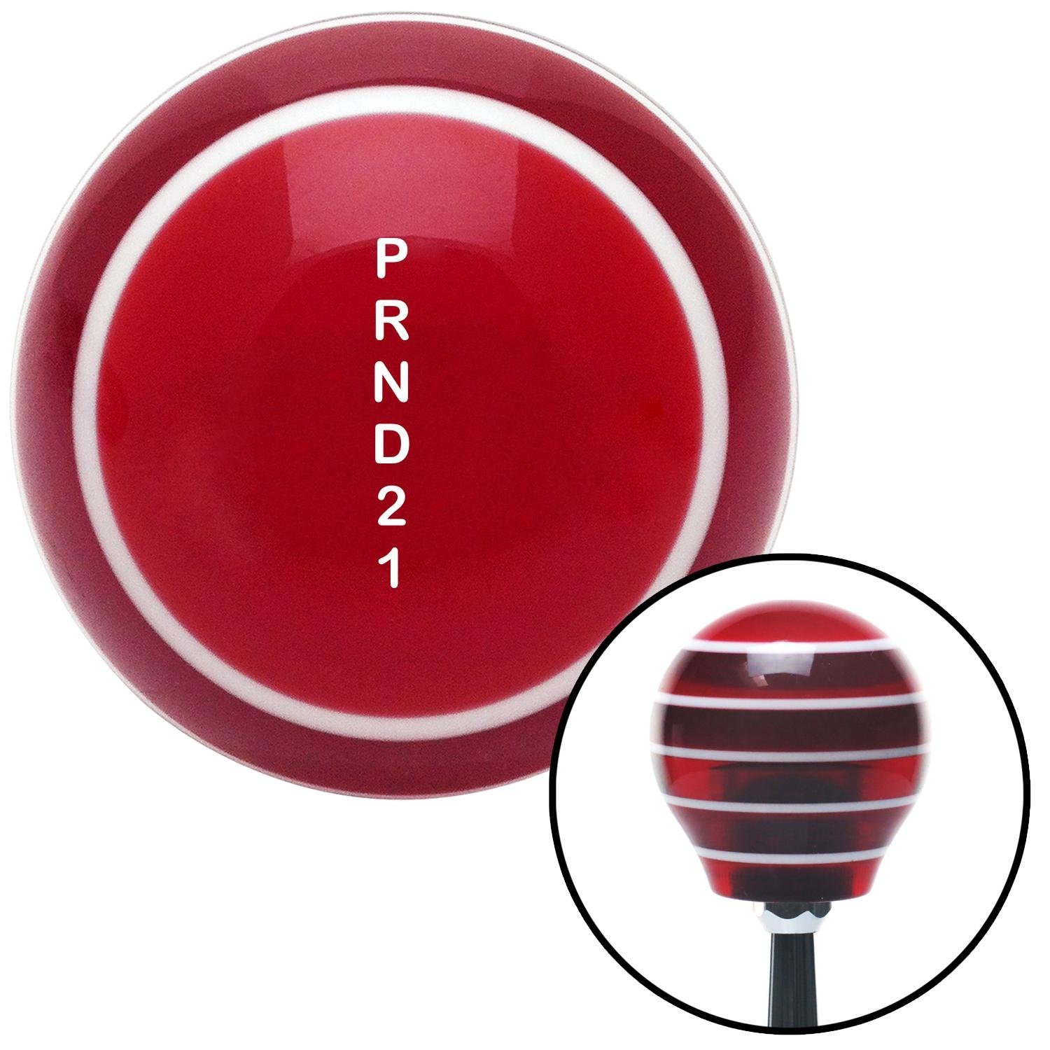 White Shift Pattern 30n American Shifter 117684 Red Stripe Shift Knob with M16 x 1.5 Insert