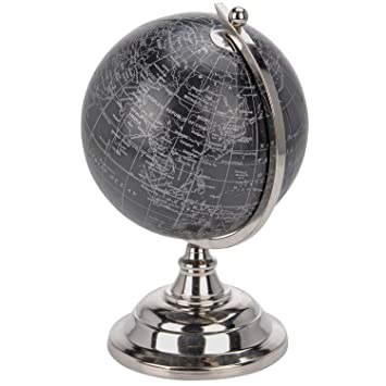 Globe terrestre - Mappemonde - Noir et argent: Amazon.fr: Cuisine ...