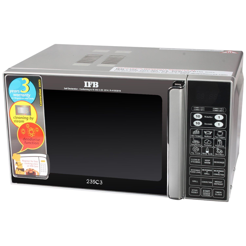 IFB 23 L Convection Microwave Oven (IFB 23SC3, Metallic Silver): Amazon.