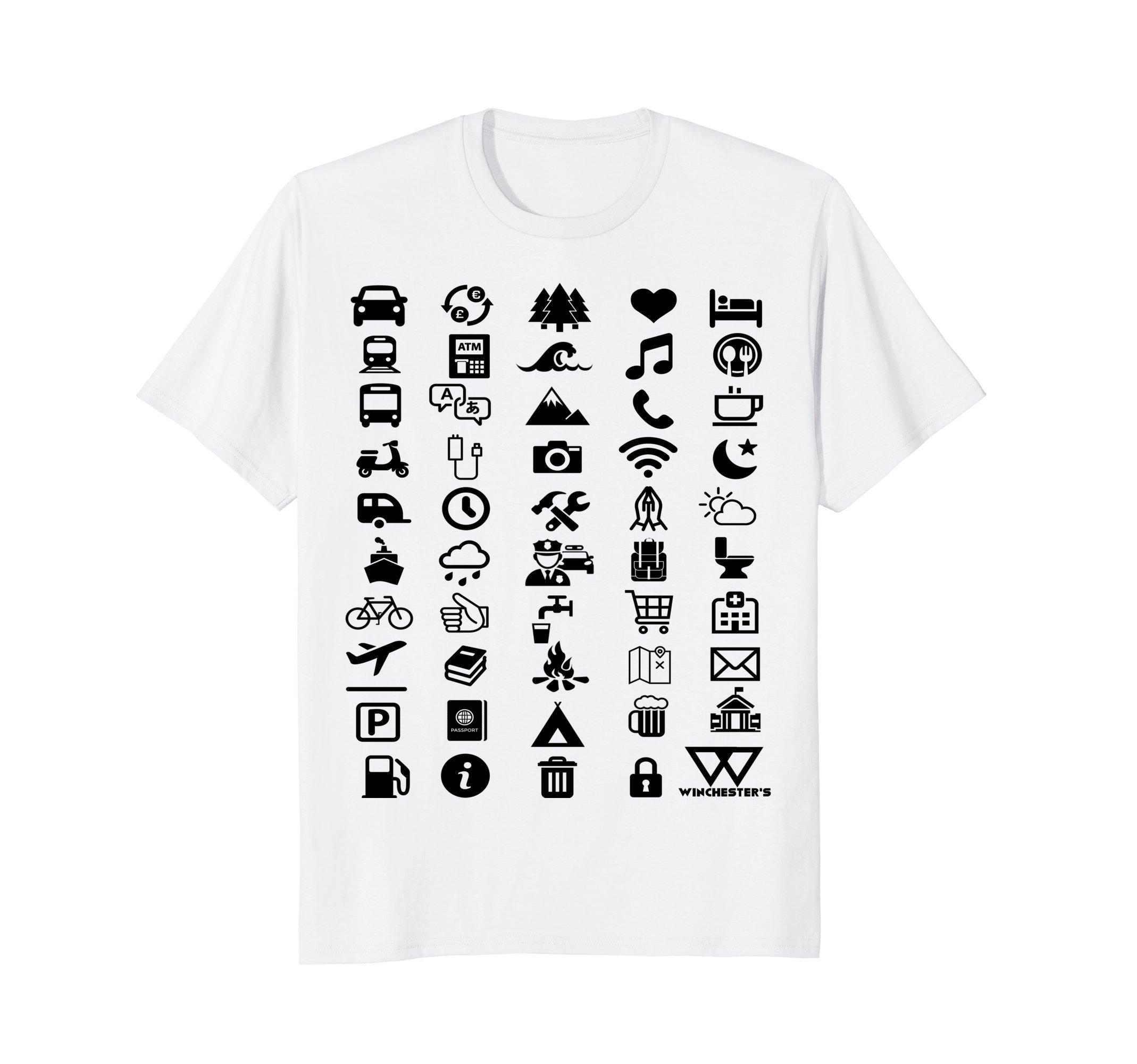 Roadtrip Travel Icon Translator T-Shirt