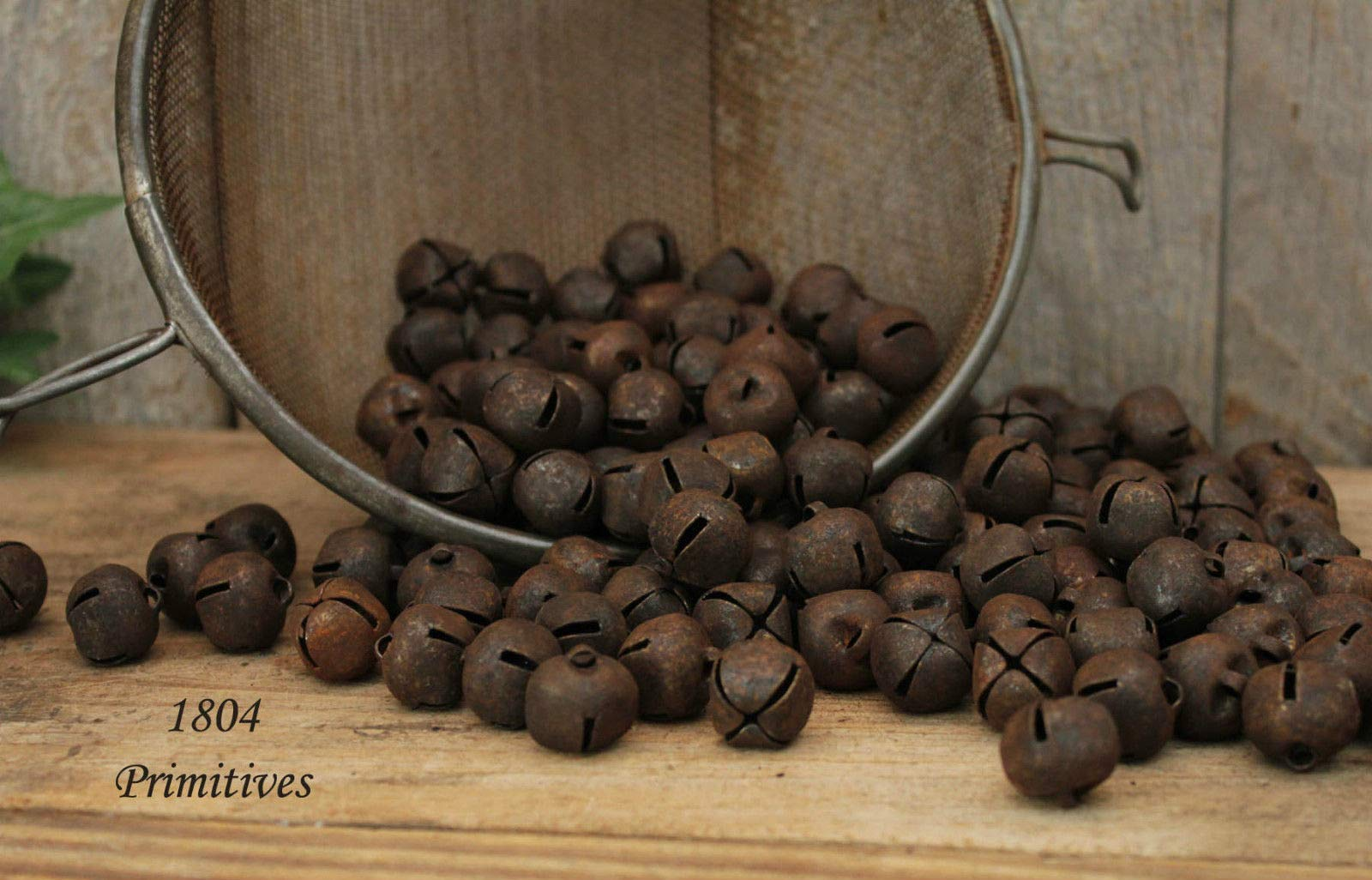 Primitive & Country Style 500 ~ Primitive Rusty Tin Jingle Bells 16 mm ~ Approx 5/8'' Rustic Home Decor