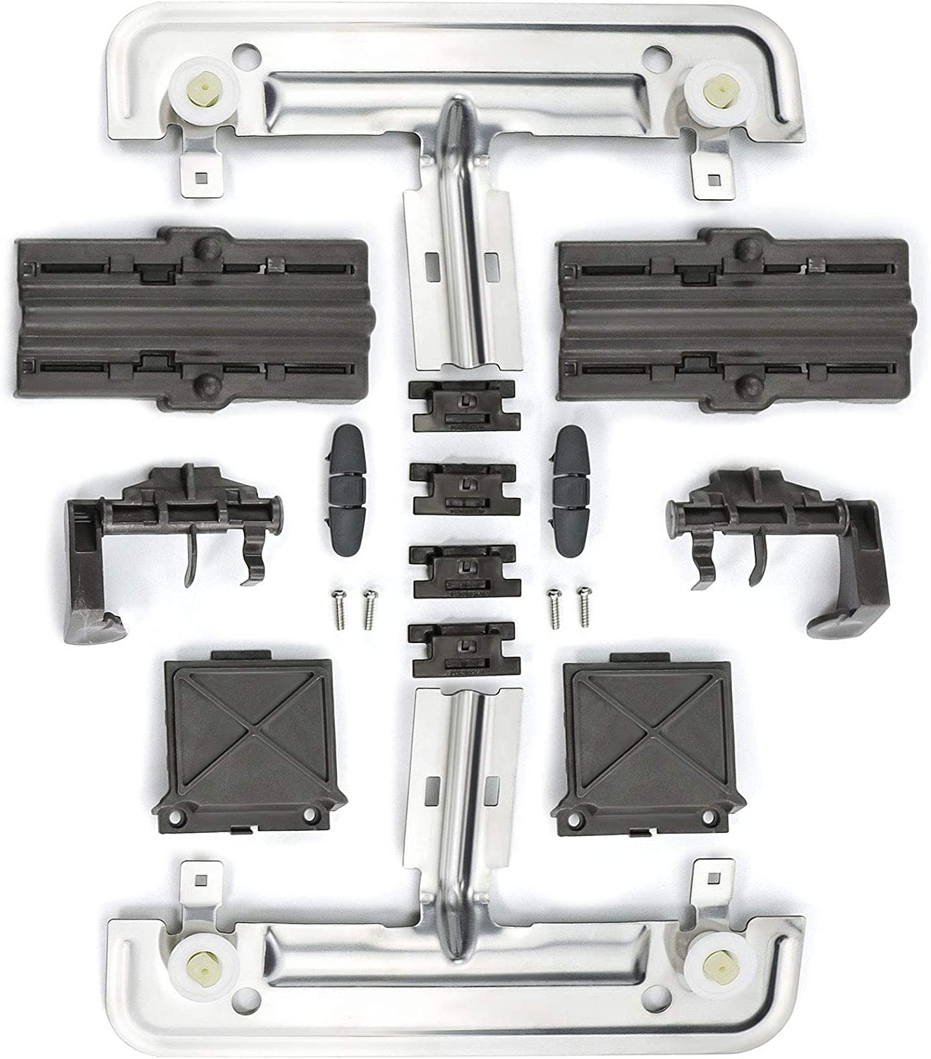 18 pack W10712395 Dishwasher Upper Rack Adjuster Metal Kit,Compatible with Whirlpool kenmore Dishwasher,Dishwasher Parts Replacement for W10250159 W10350375 3516330 W10712395VP AP595756