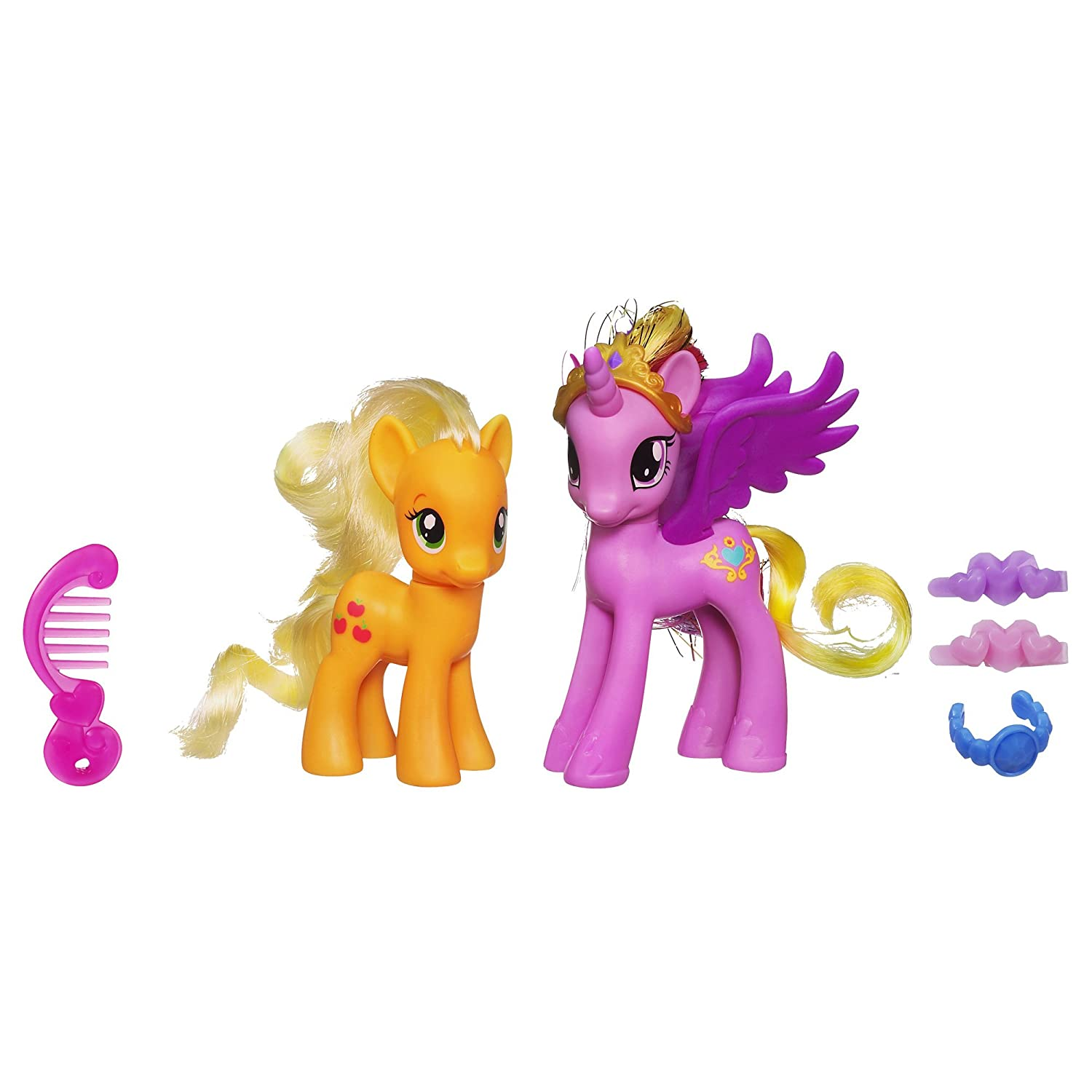 Amazon com my little pony princess cadance and applejack figures toys games