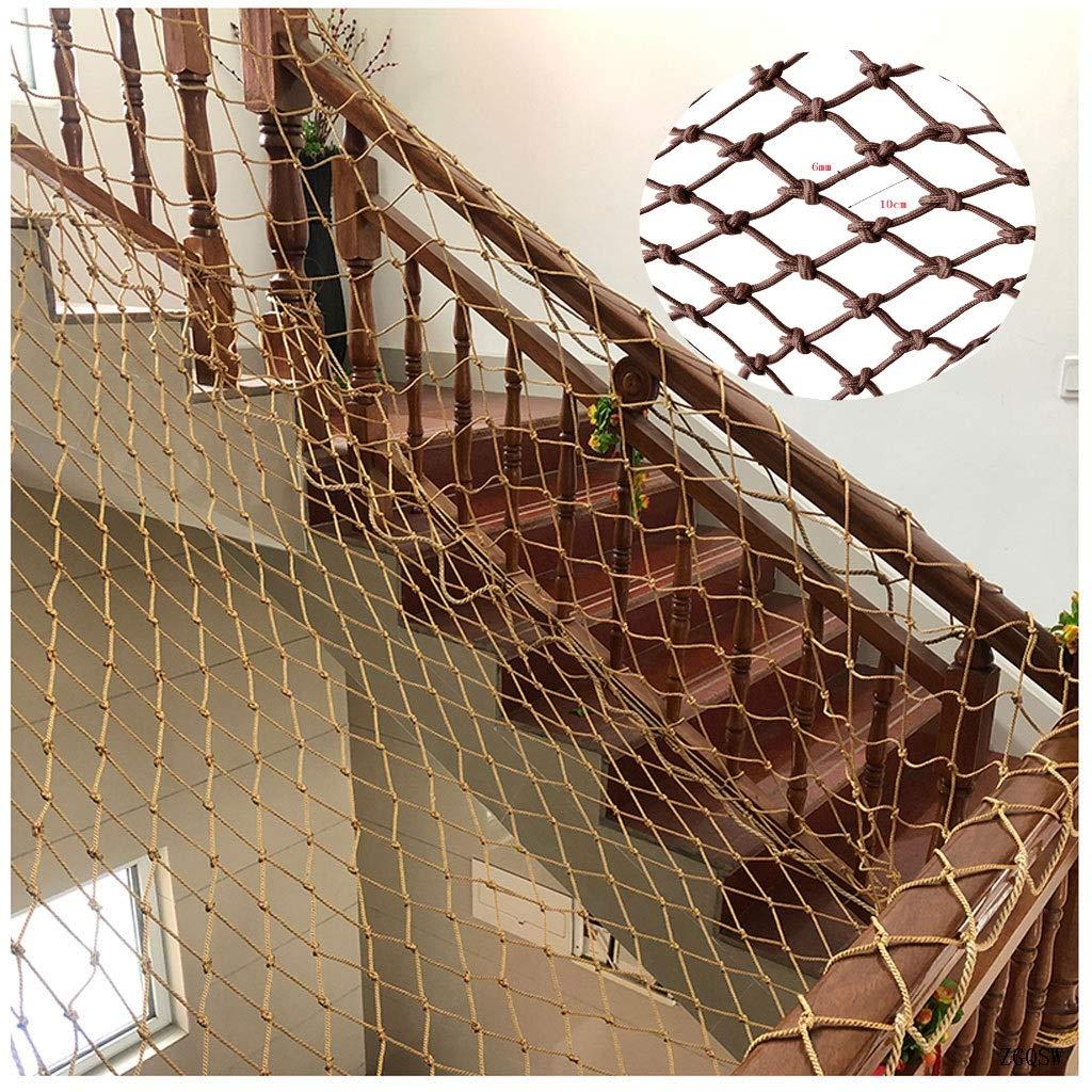 15m(316ft) Filet De Sécurité Marron Corde Nette, Escaliers De Prougeection Pour Animaux De Compagnie Anti-chute Clôture Clôture En Nylon Corde Corde Barrière De Jardin Décoration De Jardin ( Taille   25M(716ft) )