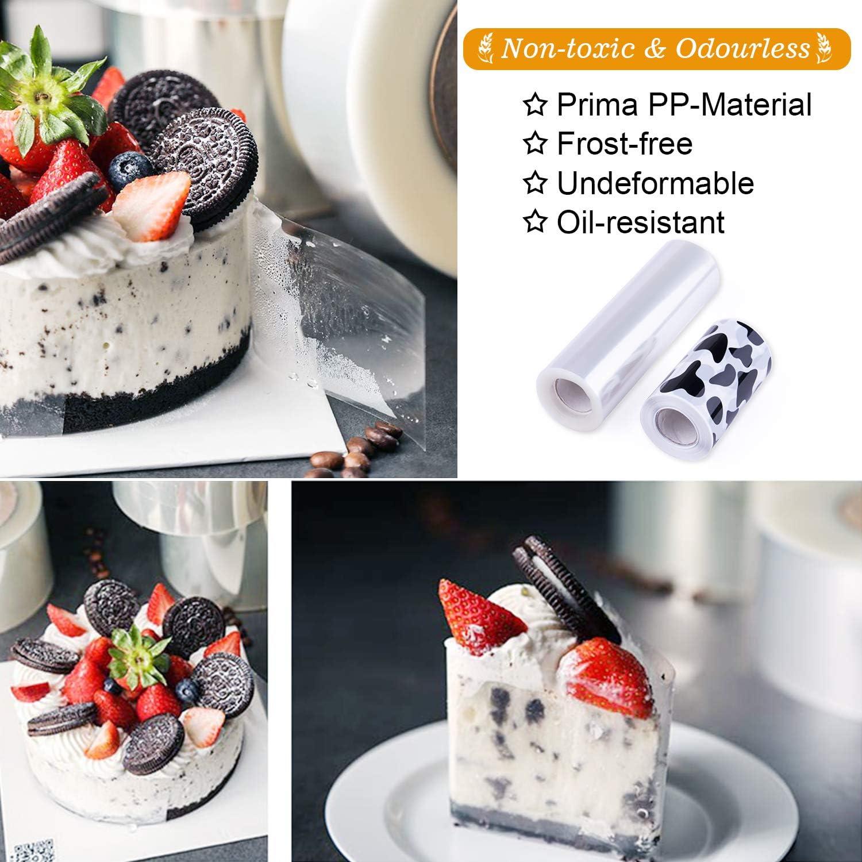MICGEEK Cake Collar Collars Cake Edge Foil Cake Collar Strips Cake Collar Roll Mousse Ring Cake Rings