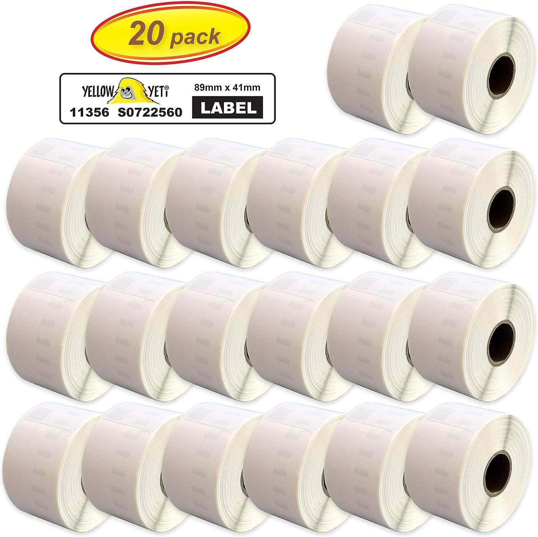 300 /Étiquettes par rouleau Printing Pleasure 2x Compatible 11356 89mm x 41mm /Étiquettes pour Badges pour Dymo LabelWriter 4XL 450 400 330 320 310 Twin Turbo Duo Seiko SLP 450 400 200 120 100 Pro
