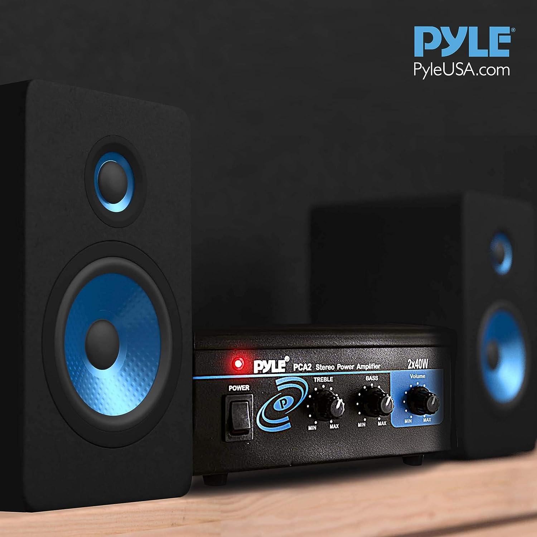 Pyle-Home Pca2 2x40-Watt Stereo Mini Power Amplifier