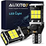 AUXITO 912 921 LED Backup Light Bulbs High Power 2835 15-SMD Chipsets Error Free T15 906 W16W for Back Up Lights Reverse Ligh