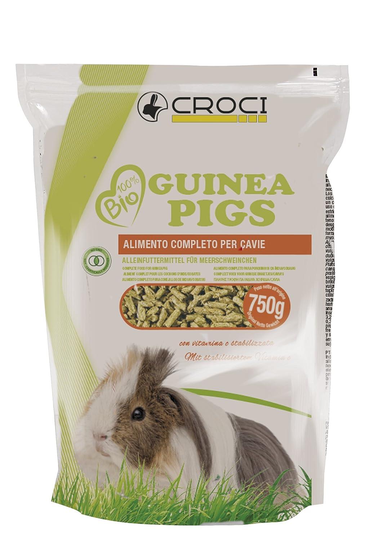 2 x 750 g Croci 100/% Alimenti biologici per porcellini dIndia Confezione da 2 pezzi