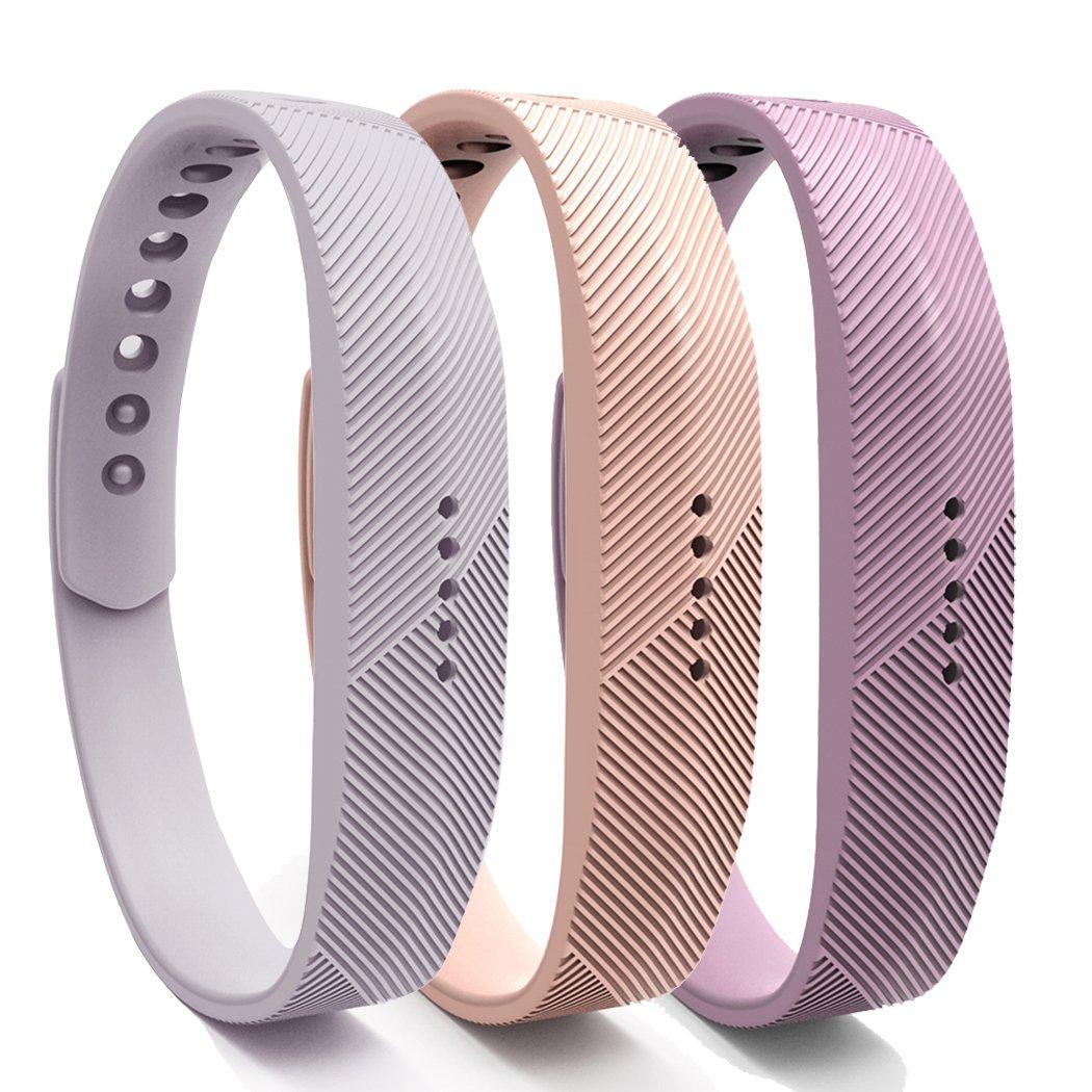 Cyeeson 3PC Fitbit Flex 2 WristBands Bracelet Ajustable en Silicone Souple Bracelet Bracelet Accessoire pour Fitbit Flex 2