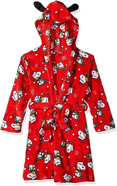 Little Boys Girls Peanuts Snoopy /& Woodstock Christmas Bathrobe /& Pajamas