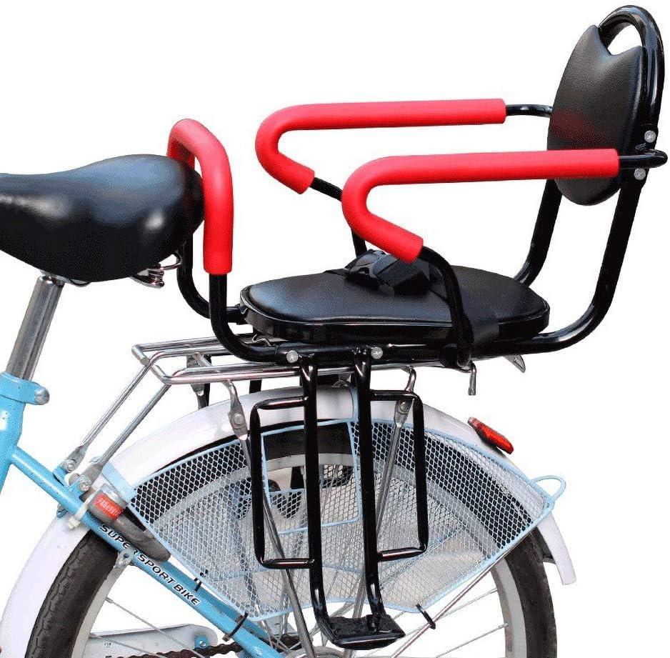 Silla Bicicleta para NiñOs, Asiento Infantil para Bicicleta, Soporte para NiñOs con Reposabrazos Y Pedales Antideslizantes, Seguridad para Asientos para BebéS De 2 A 6 AñOs