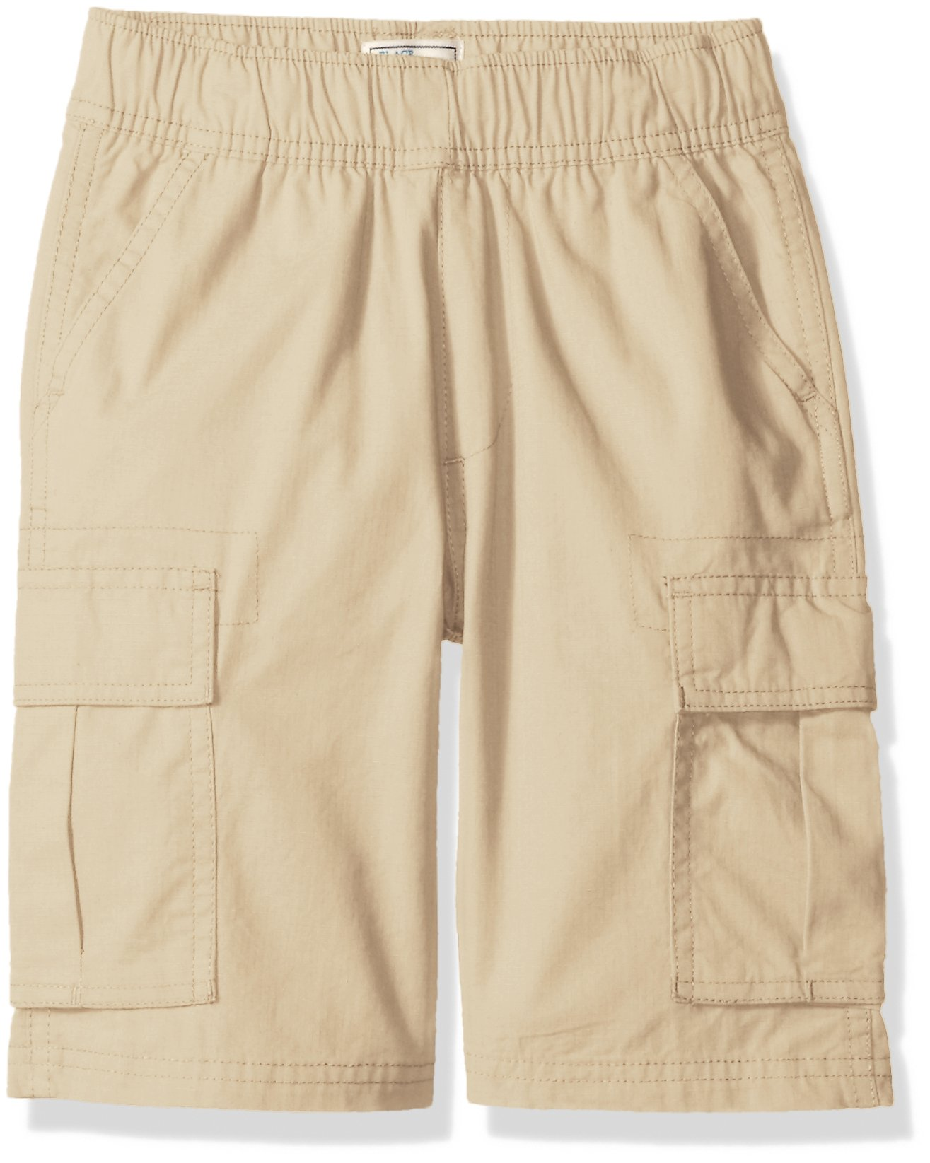 The Children's Place Big Boys' Pull-on Cargo Shorts, Sand Wash, 8