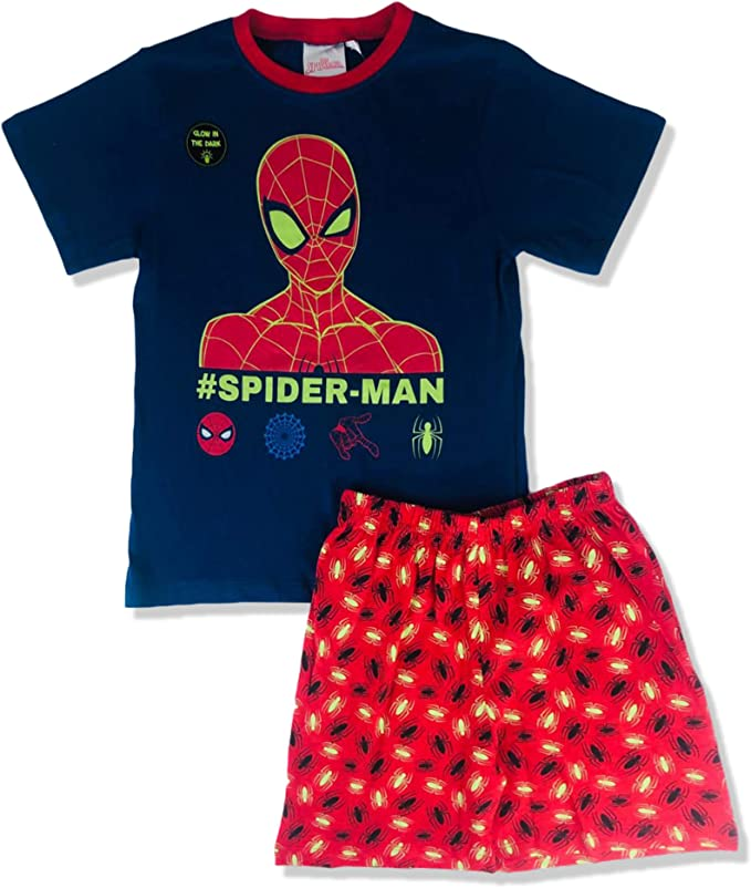 Marvel Spiderman Boys Short Pajamas