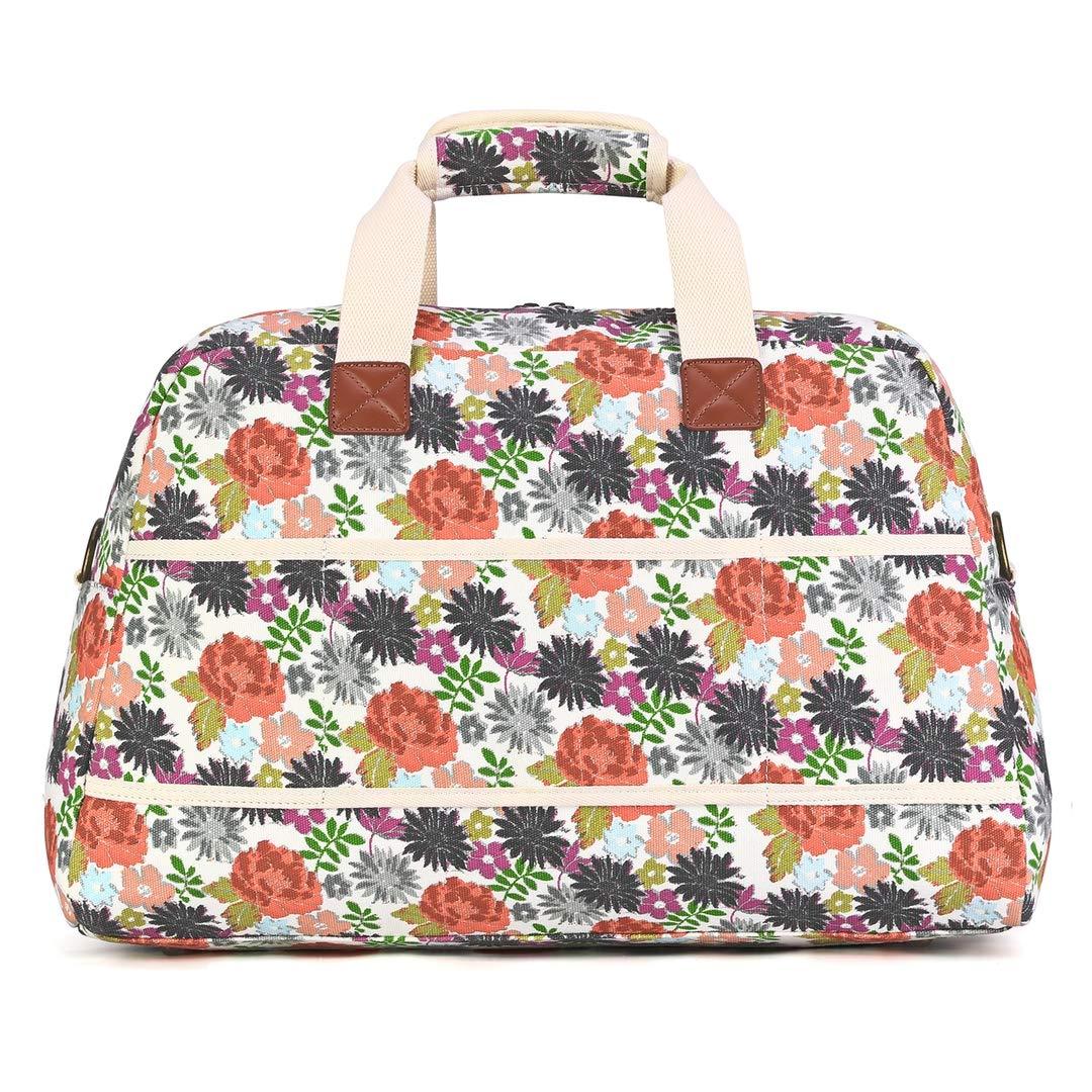 6ac495b56bb6 Plambag Canvas Overnight Bag for Women, Floal Design Travel Duffel ...