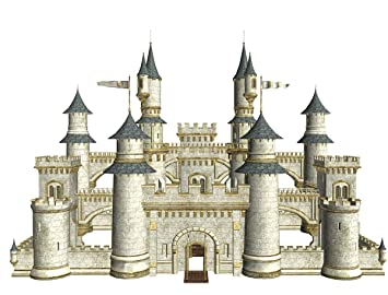 Jp London Pmur2063 Peel And Stick Removable Wall Decal Sticker Mural Storybook Castle Medieval