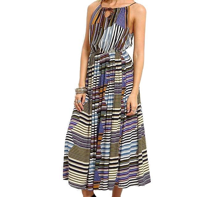 5444cd3ae6e89 Freely Women Sleeveless Floral Bohemian Slip Dress Beach Dresses at Amazon  Women's Clothing store: