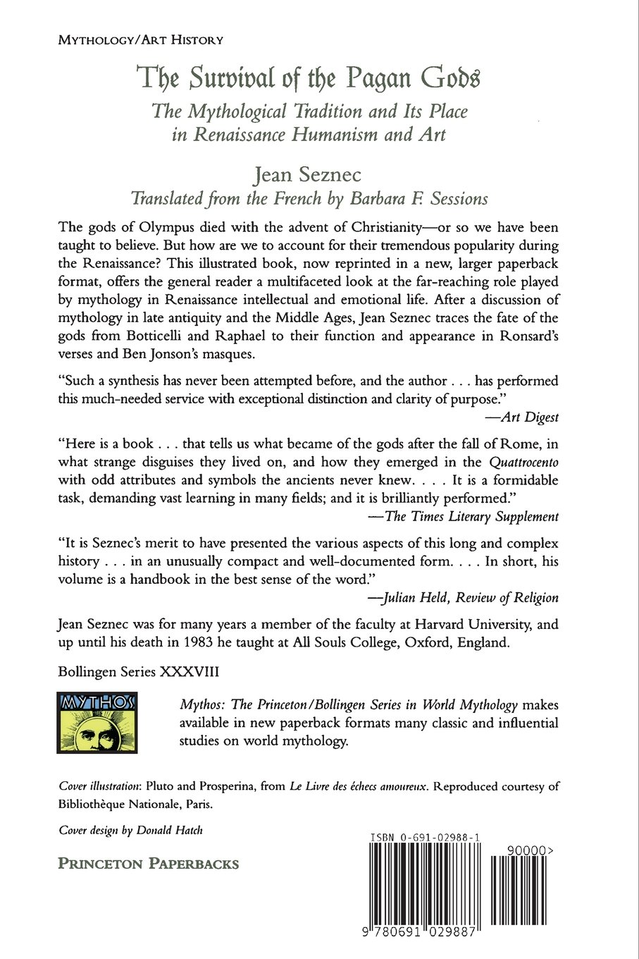 The survival of the pagan gods jean seznec barbara f sessions the survival of the pagan gods jean seznec barbara f sessions 9780691029887 amazon books buycottarizona