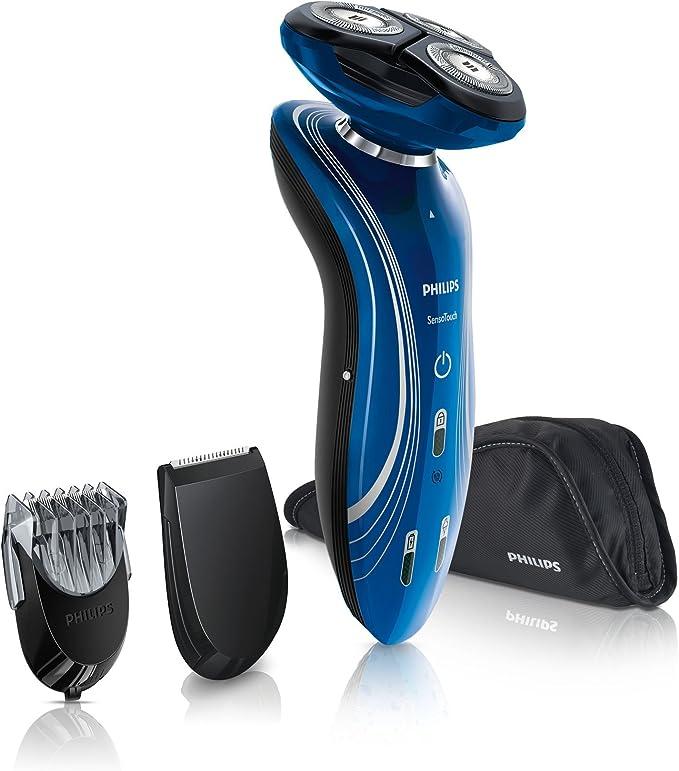 Philips SHAVER 7000 SensoTouch 2D RQ1155 - Afeitadora (Rotación, 3 piezas, Azul, Batería, Ión de litio, 1h): Amazon.es: Salud y cuidado personal