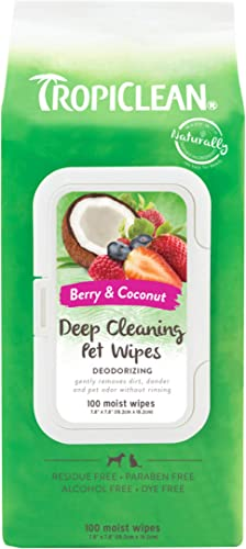 TropiClean Deep Cleaning Deodorizing Dogs Wipes, 100 count