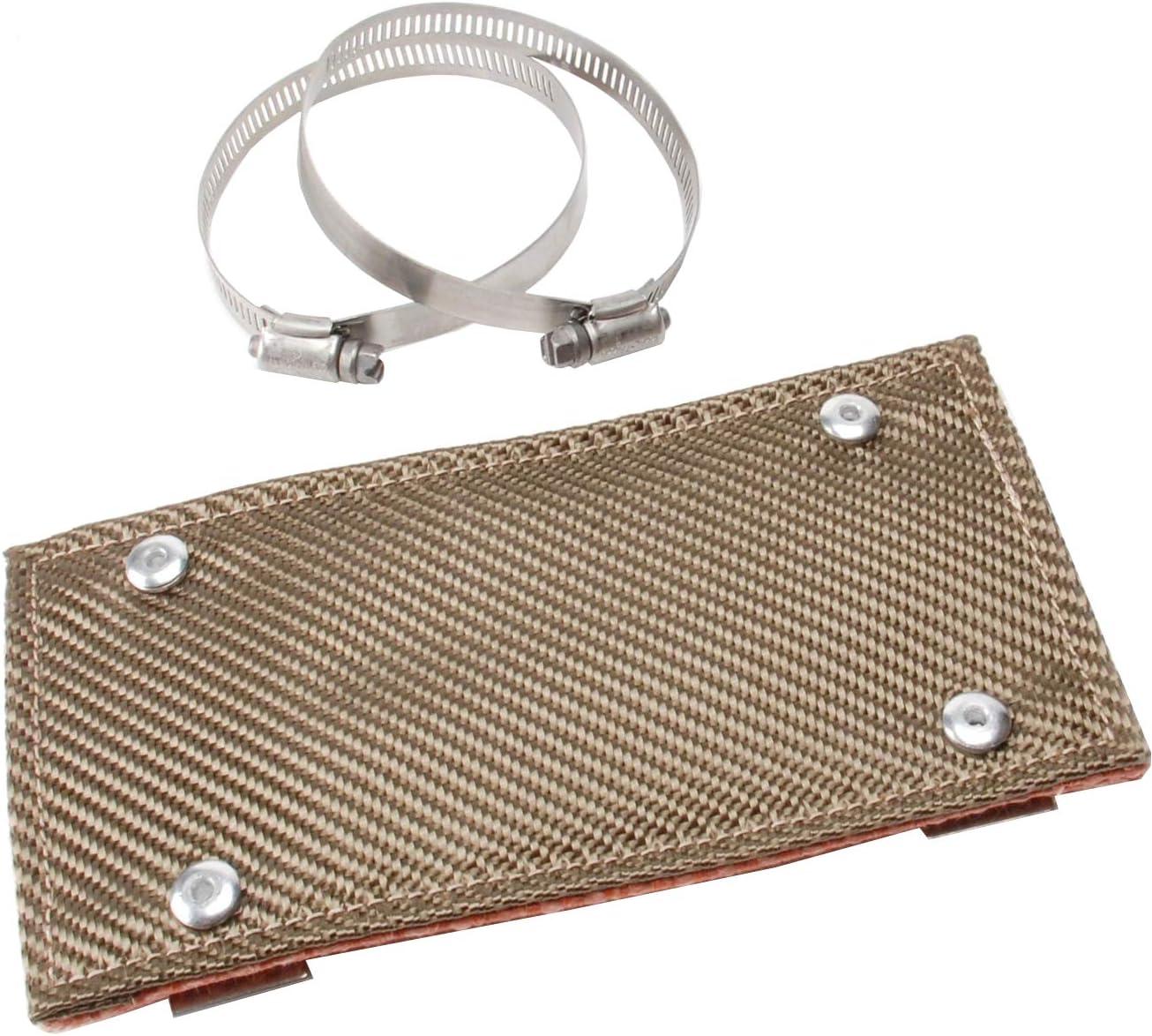 "Design Engineering 010453 Titanium Pipe Shield - Exhaust Heat Shield, 4"" x 8"""