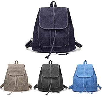 Amazon.com | Womens Denim Backpacks, Small, Various Color Washes (Dark Blue) | Casual Daypacks