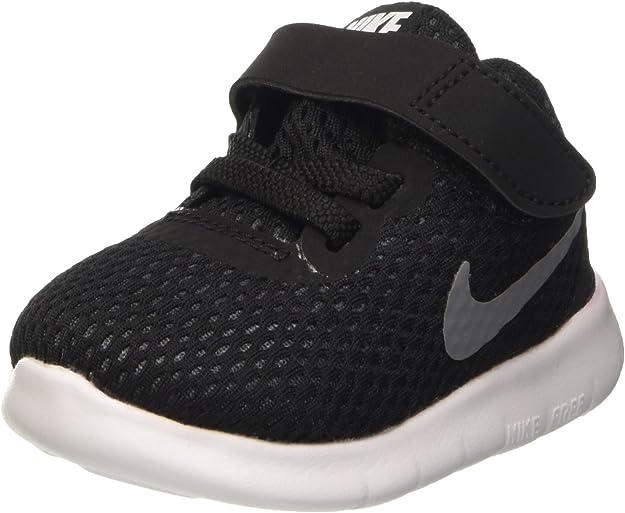 Amazon Com Nike Toddlers Free Rn Tdv Black Metallic Silver Anthrct Running Shoe 6 Infants Us Shoes