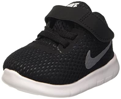 08793d1ebc2 NIKE Toddlers Free Rn (TDV) Black Metallic Silver Anthrct Running Shoe 8