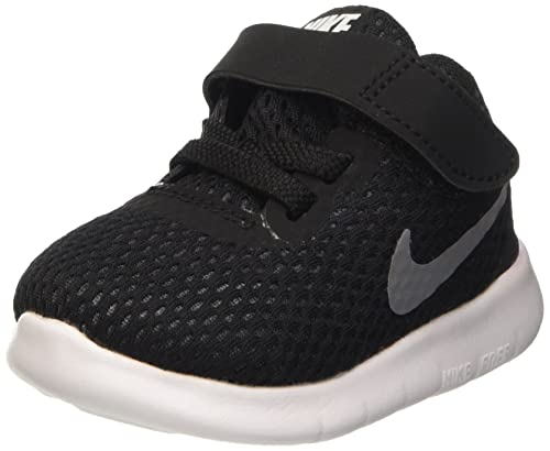 NIKE Free RN (TDV) Toddler Shoes BlackMetallic SilverAnthracite 833992-