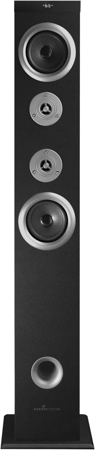 Energy Sistem Tower 5 AT - Sistema de sonido Bluetooth (60 W, Touch panel, USB/SD y FM), color negro y plata: Amazon.es: Electrónica