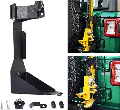 JK Tailgate Hi-Lift Jack Mount Bracket OMOTOR Off-Road Tailgate Hi-Lift Jack Mount Bracket fit for Jeep Wrangler JK 2007 2008 2009 2010 2011 2012 2013 2014 2015 2016 2017 2018