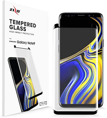 Zizo Full Glass Compatible with Samsung Galaxy S10 Plus Tempered Glass Screen Protector Anti Scratch 9H Hardness Black