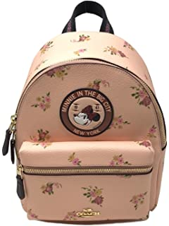 f57bf21e385 Coach X Disney Minnie Mouse Charlie Backpack Black Limited Edition F29354  Vintage Pink