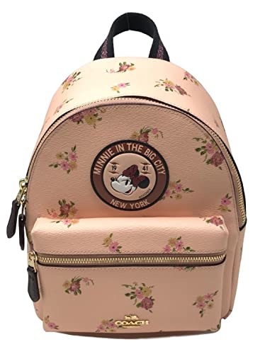 54fa9a623dd Image Unavailable. Image not available for. Color  Coach X Disney Minnie  Mouse Charlie Backpack ...