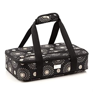 Pursetti Casserole Carrier - Single Layer Insulated Bags for Food Transport of Lasagna, Salad & Dessert for Potluck, Family and Holiday Parties (Cool Mandala)