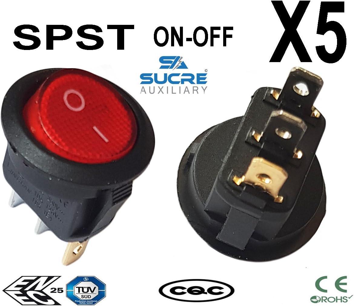 6/A 250/VAC rond rectangulaire carr/é Bouton interrupteur /à bascule de voiture v/éhicule Bateau commutateurs de tableau de bord