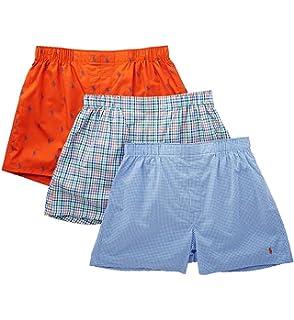 11e01b919 Polo Ralph Lauren Men`s Classic Fit Cotton Woven Boxers 3 Pack at ...