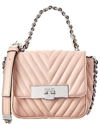 49ee11a7fab2 Amazon.com  Michael Michael Kors Susannah Lock Small Leather Messenger Bag   Shoes