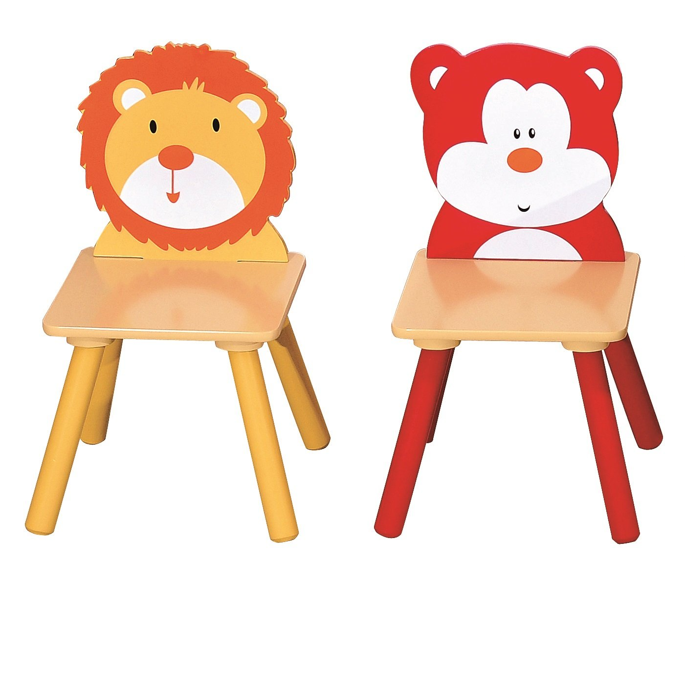 Tables and chairs cartoon - Animal Safari Themed Childrens Table And 4 Chairs Set Amazon Co Uk Kitchen Home